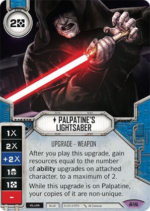 SW Destiny - Palpatine's Lightsaber