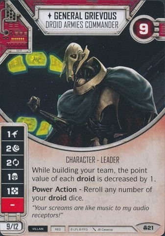 SW Destiny - General Grievous Droid Armies Commander