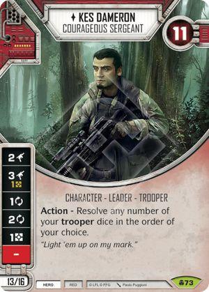 SW Destiny - Kes Dameron Courageous Sergeant