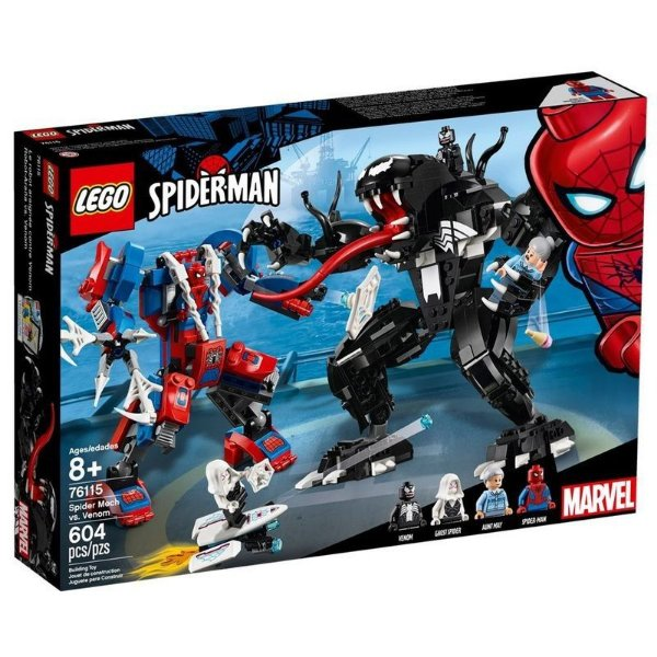 Lego Marvel Super Heroes - Robô-aranha Vs Venom 76115