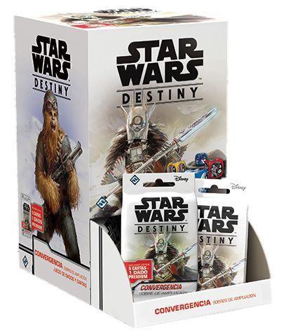 Jogo Star Wars Destiny Pacotes de Expansão - Box Convergência c/36