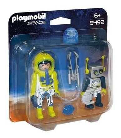 Playmobil 9492 Especial Com Blister Astronauta E Robô