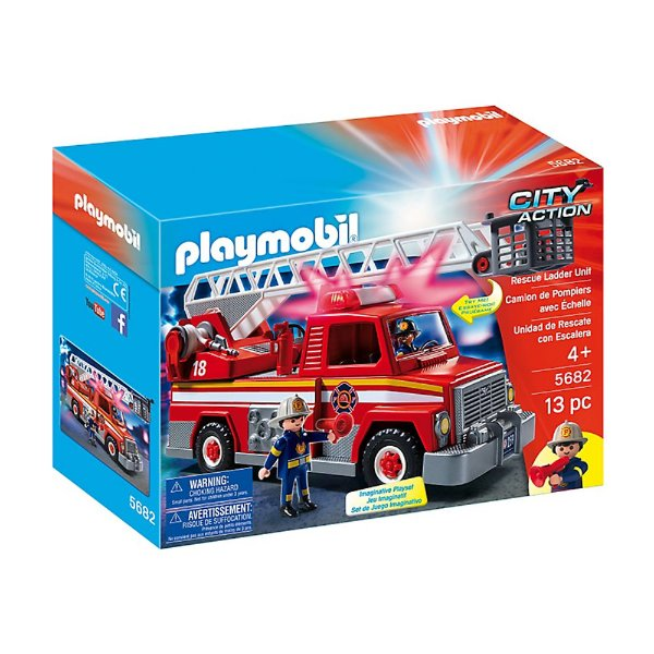 Playmobil 5682 - Caminhão De Bombeiro Com Escada