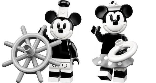 Lego Minifigures 71024 - Mickey Mouse e Minnie Vintage