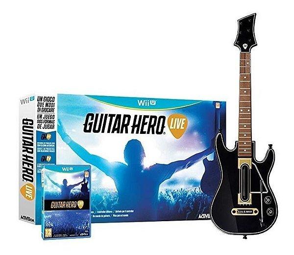 Nintendo Wii Wii-u Guitar Hero Live Bundle (guitarra + Jogo)