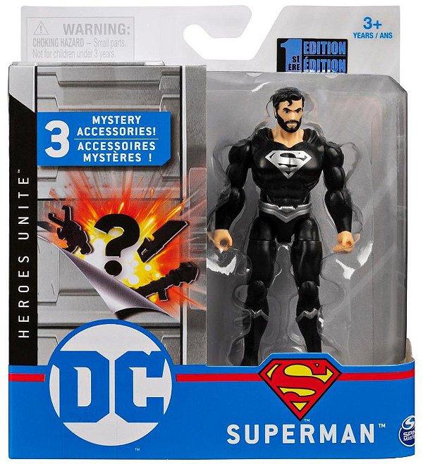 Boneco Articulado Dc Comics 10 Cm Superman (Preto)