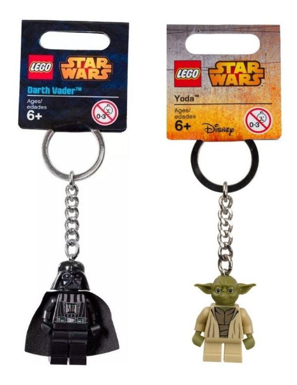 Lego Chaveiro Star Wars - Darth Vader 850996 E Yoda 853449