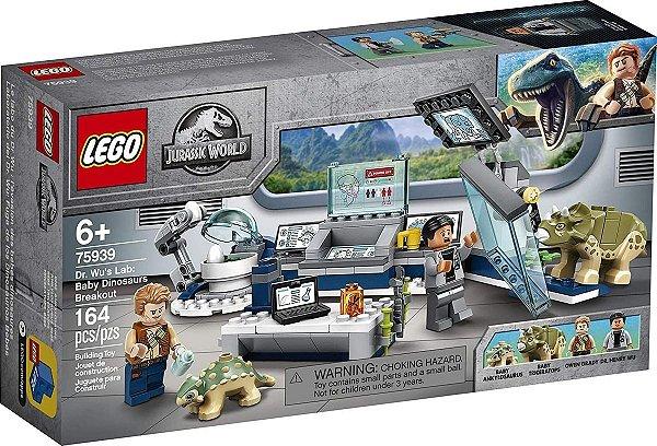 Lego Jurassic World - Laboratório do Dr. Wu: A Fuga dos Dinossauros Bebês 75939