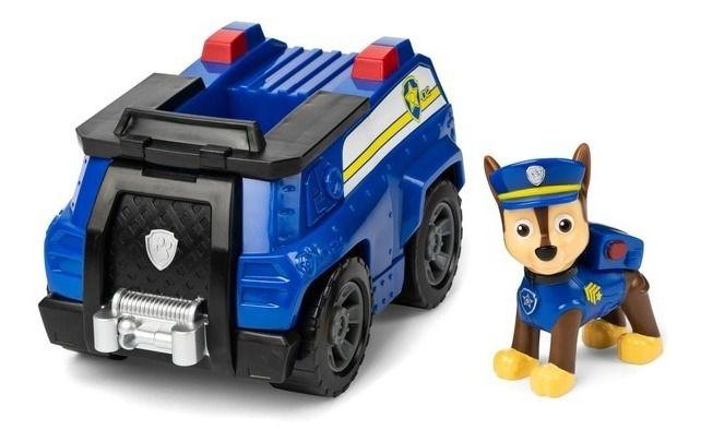 Patrulha Canina Boneco com Veículo - Chase Patrol Cruiser
