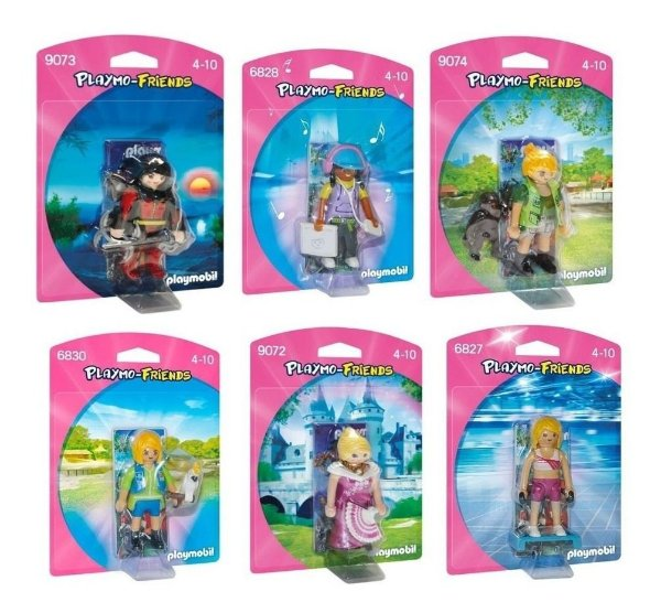 Playmobil Friends Feminino Pack Com 6
