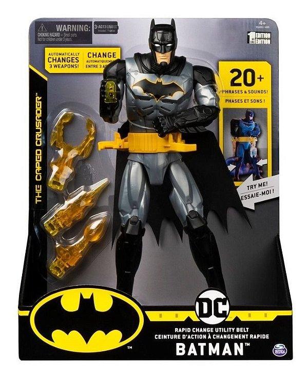 Boneco Dc Batman Com Luzes E Sons 30 Cm