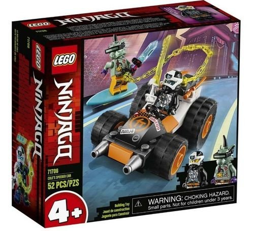 Lego Ninjago - O Carro De Corrida Do Cole 71706