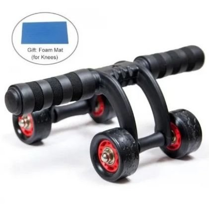 Rolo para Abdominais Multi-Functional Lightweight Portable Trainer Ab Roller and Push Up Bar Promo