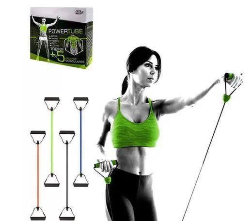 Elástico Resistencia Extensor Tensão para Exercícios Fortalecimento Muscular Power Tube