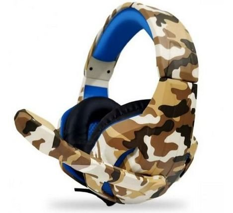 Headset Gamer P3 Usb Px-1 Tecdrive - Recruta Camuflado Azul