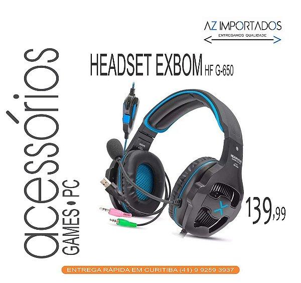 Fone de Ouvido Headphone Gamer com Led  Exbom Hf-G650