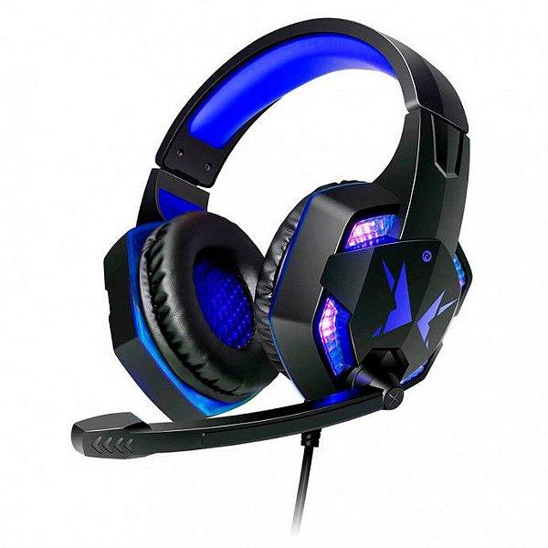 Headset Headphone Gamer USB com Microfone LED Iluminação Exbom hf-G600