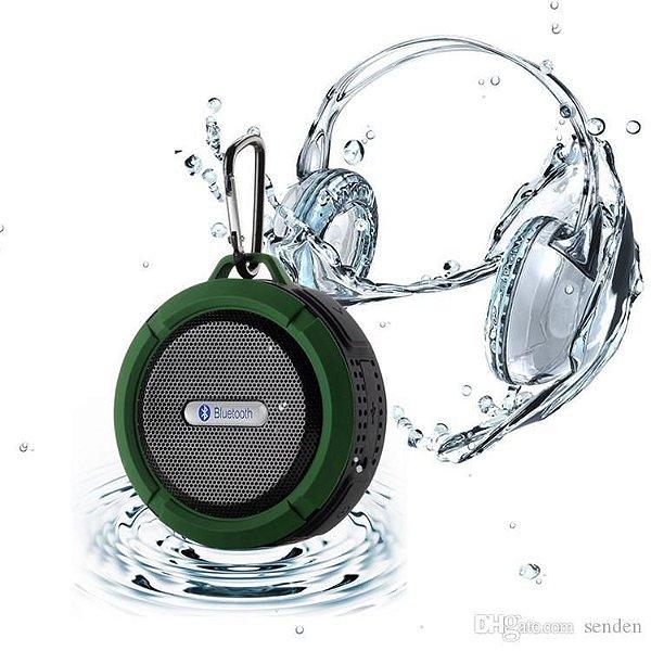 Caixinha Som Bluetooth Com Ventosa Lotus Weireless À Prova D'água Az Importados