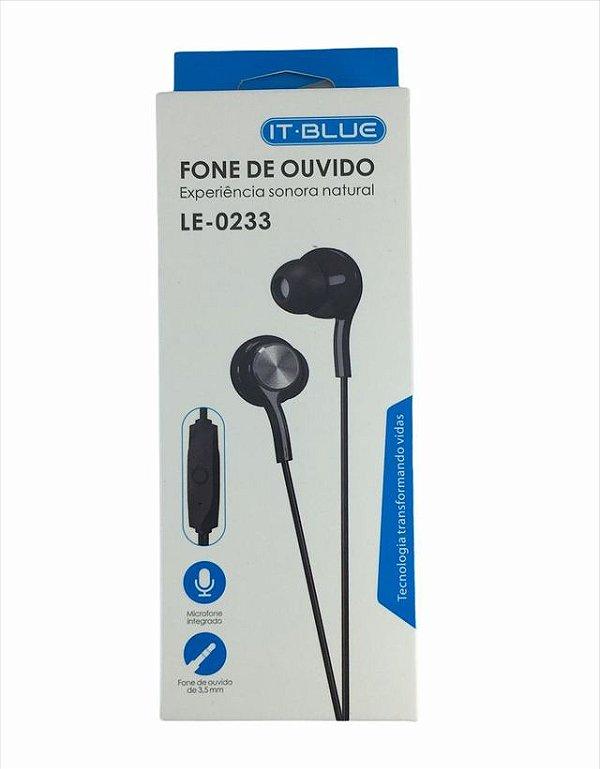 Fone De Ouvido Intra-Auricular Com Microfone It-Blue Le-0233