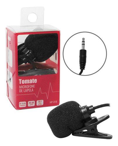 Mini Microfone De Lapela para Video chamada C/ Clipe Tomate Mp-018