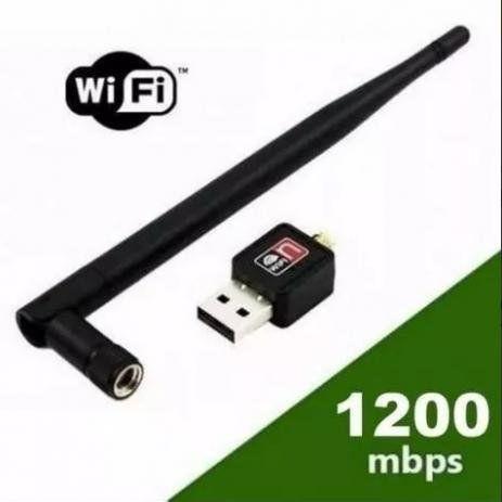 Adaptador Antena Wifi Usb Wirelles Receptor 1200mbps Realtek