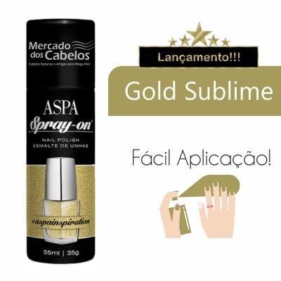 Esmalte de Unhas em Spray - Spray On - Aspa - 55ml -Gold Sublime