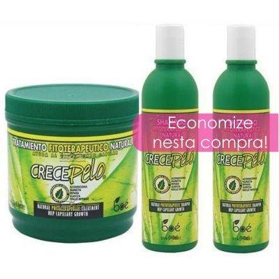 Crece Pelo Kit Shampoo + Condic. + Mascara 454g