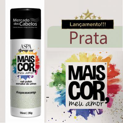 Esmalte de Unhas em Spray - Mais Cor, meu Amor - Aspa - 55ml - Prata