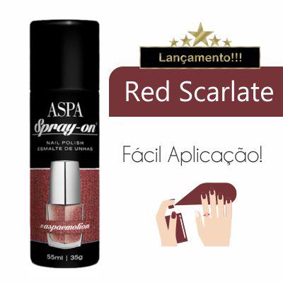 Esmalte de Unhas em Spray On - Aspa - 55ml - Cor: Red Scarlate