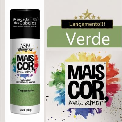 Esmalte de Unhas em Spray - Mais Cor, meu Amor - Aspa - 55ml - Verde