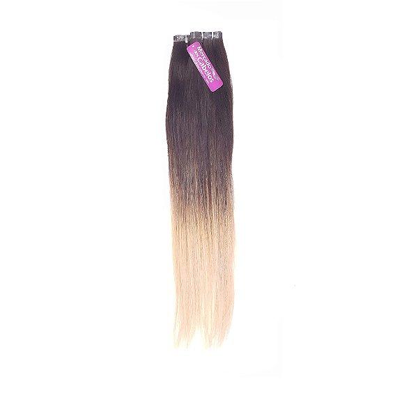 Mega Fita Adesiva, Cabelo Humano, Liso, 67/70cm Ombre Hair. Com 50 gramas.