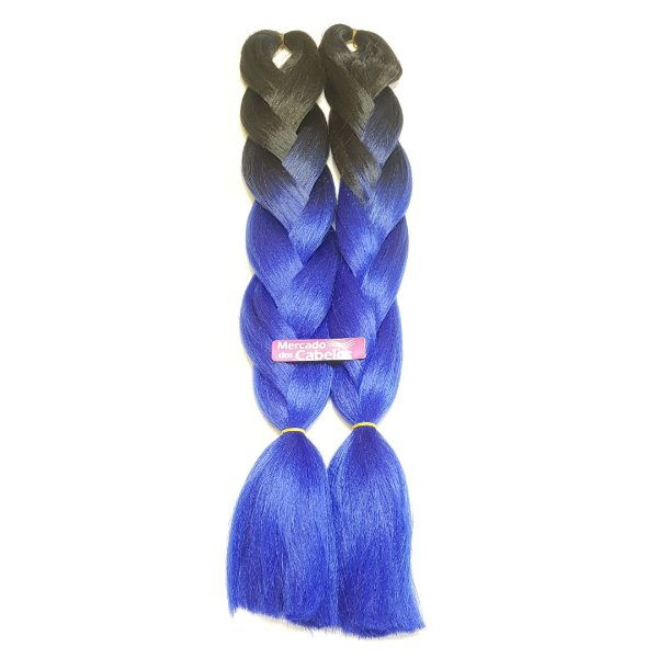 Jumbo Premium Preto/Azul com 400 gramas. Marca Brunette.