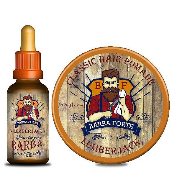 Combo Lumberjack Óleo e Pomada Lumberjack Barba Forte (2 Produtos)