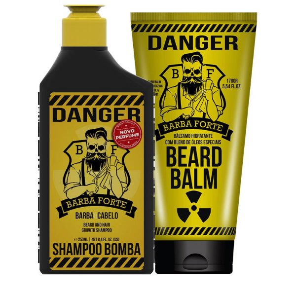 Combo Danger Shampoo e Balm Barba Forte (2 Produtos)