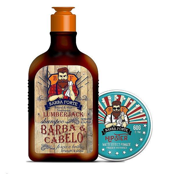 Combo Shampoo Lumberjack & Pomada Hipster (2 produtos)