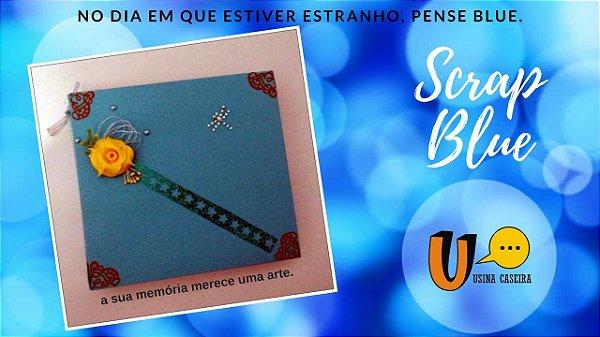 Livro de memórias Azul (Scrap Blue)