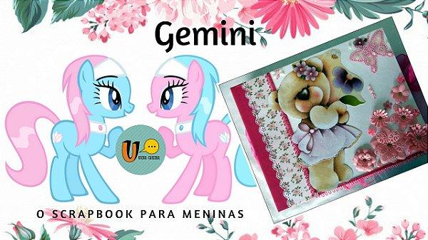 Livro de memórias para meninas (Scrapbook Gemini)