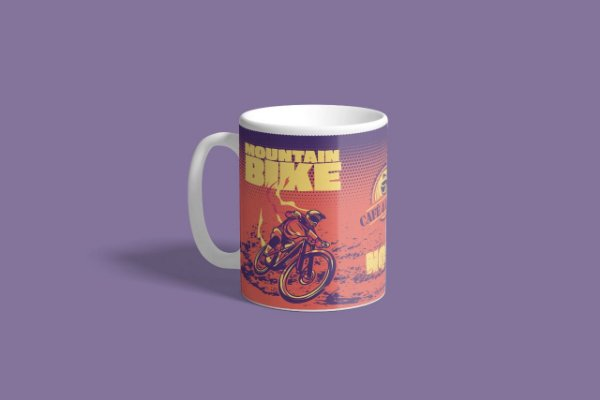 """Caneca """"NQSF"""" (Mountain Bike) - Exclusiva Disposição"""