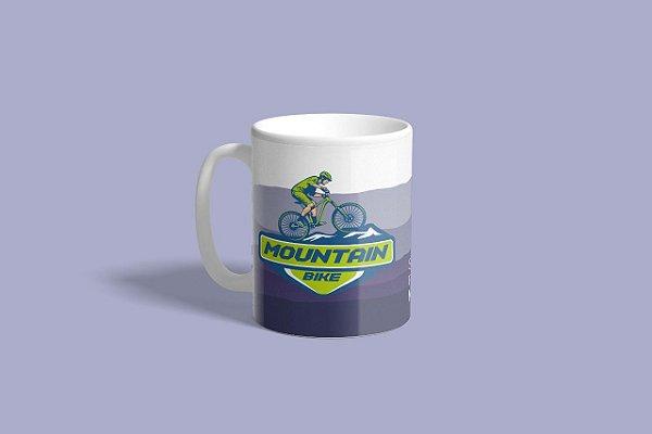 """Caneca """"Seja Sua Própria Motivação"""" (Mountain Bike) - Exclusiva Disposição"""