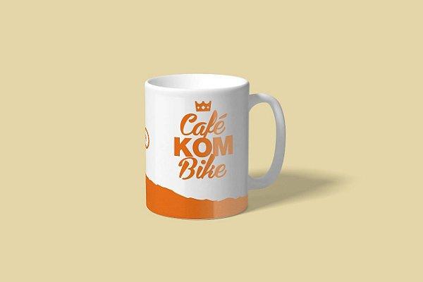"""Caneca """"Café KOM Bike"""" (Ciclismo) - Exclusiva Disposição"""
