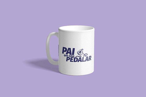 """Caneca """"Pai que Ama Pedalar"""" (Ciclismo) - Exclusiva Disposição"""