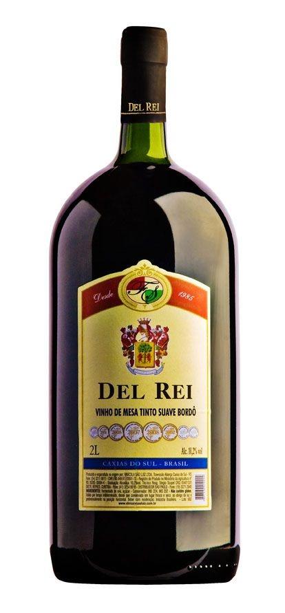 Vinho Del Rei Tinto Suave Bordo 2 L