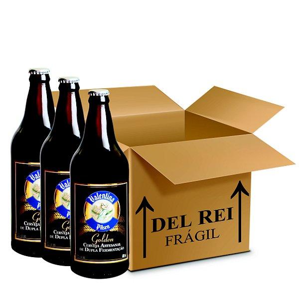 Cerveja Valentina Pilsen Golden 660ml - Box Com 12 Unidades