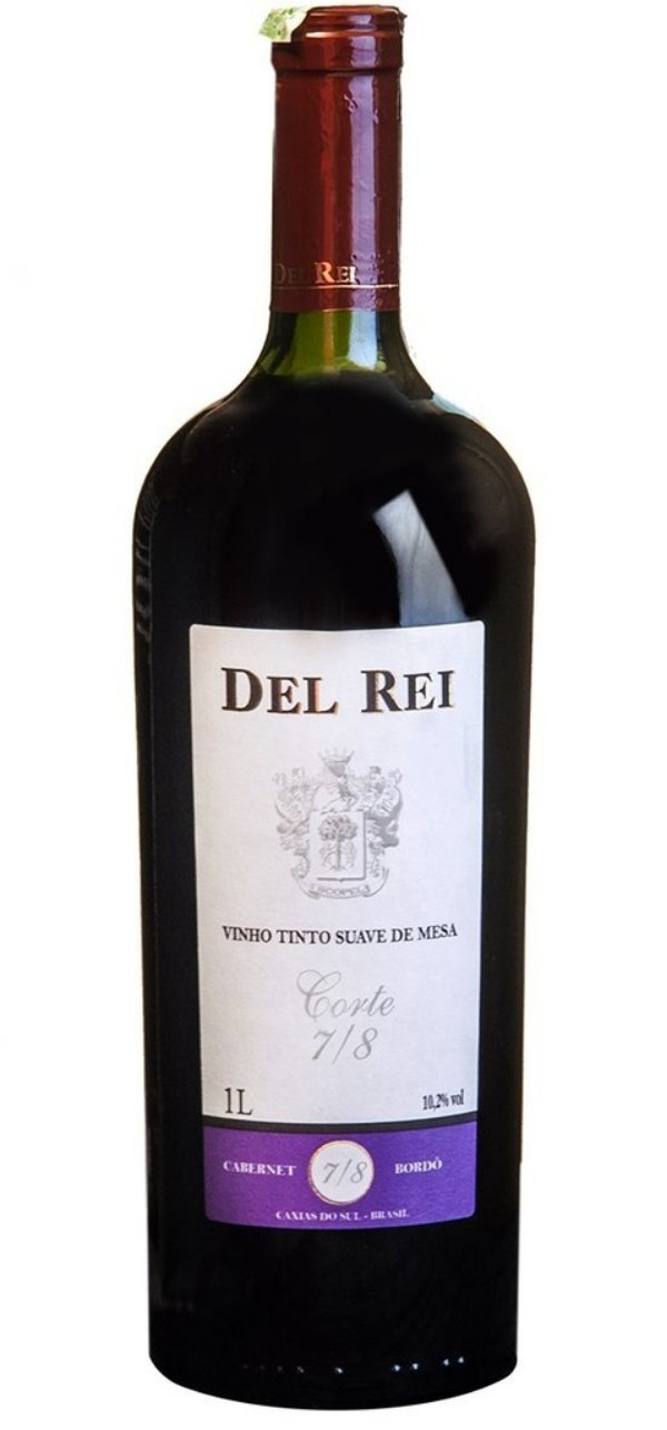 Vinho Del Rei Tinto Suave 7-8 Cabernet e Bordo 1 L