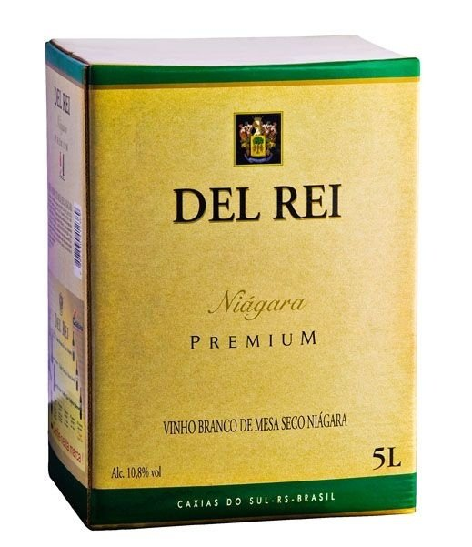 Vinho Del Rei Branco Seco Niagara Bag In Box 5 L
