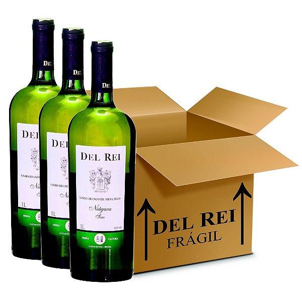 Vinho Del Rei Branco Seco Niagara 1l - Box Com 12 Unidades