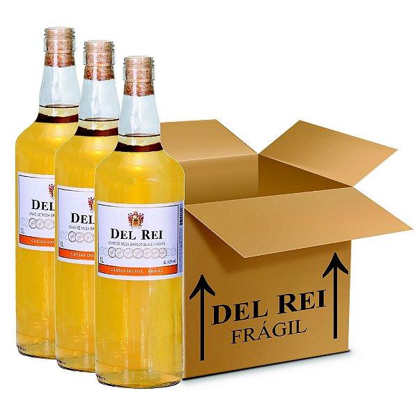 Vinho Colonial Del Rei Branco Suave Niagara 1l - Box Com 36 Unidades
