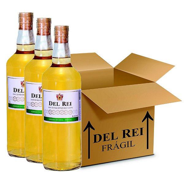 Vinho Colonial Del Rei Branco Seco Niagara 1l - Box Com 120 Unidades
