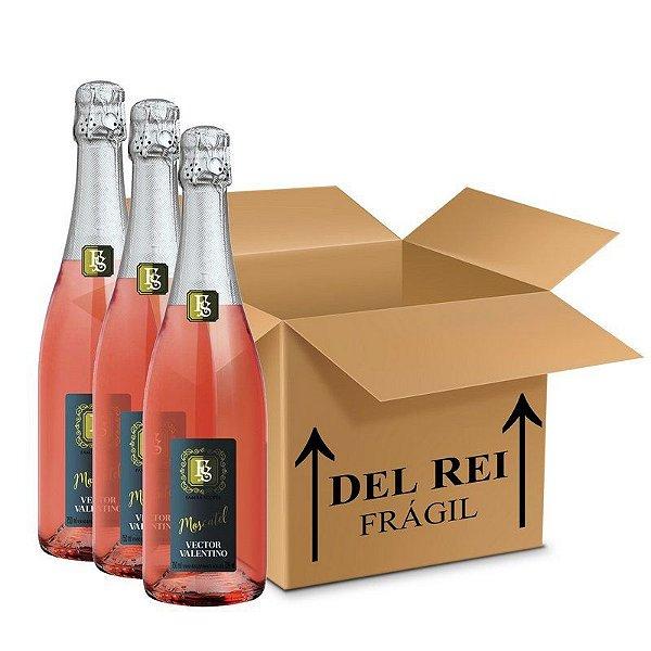 Espumante Moscatel Rosé Vector Valentino 750ml  - Box Com 120 Unidades
