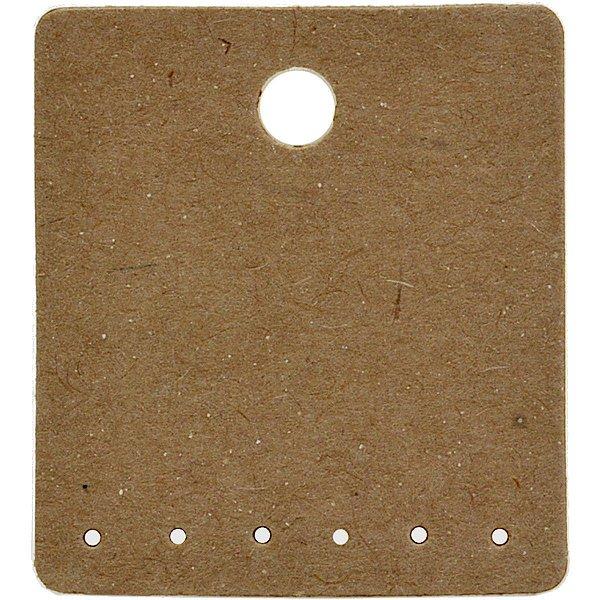 Cartela Para Brincos 6 Furos embaixo 3 Pares de Brincos - 3,9 x 4,4 - C62 Kraft